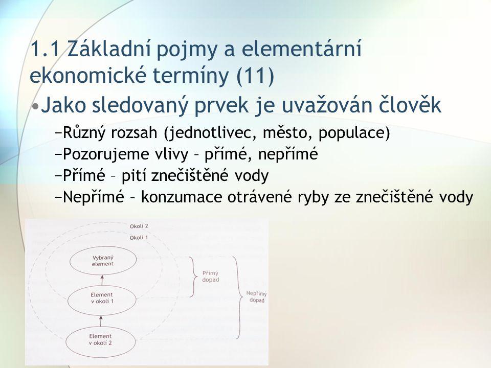 1.1 Základní pojmy a elementární ekonomické termíny (11)