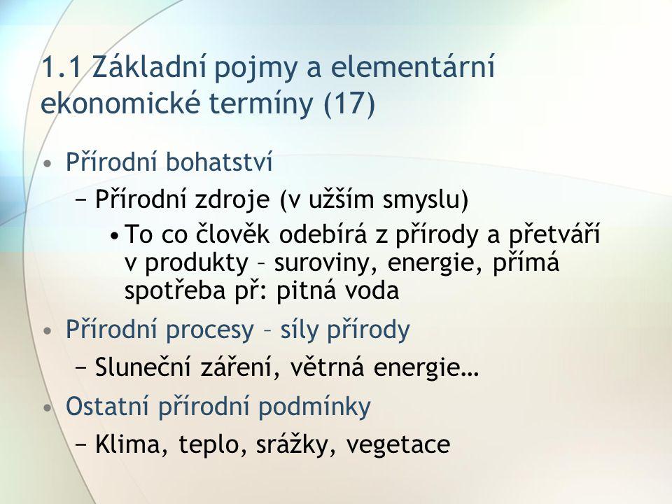 1.1 Základní pojmy a elementární ekonomické termíny (17)