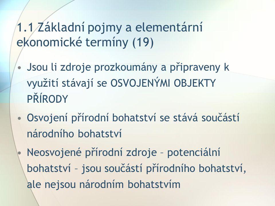 1.1 Základní pojmy a elementární ekonomické termíny (19)