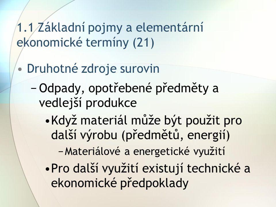 1.1 Základní pojmy a elementární ekonomické termíny (21)