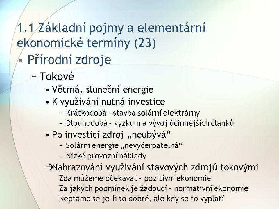 1.1 Základní pojmy a elementární ekonomické termíny (23)