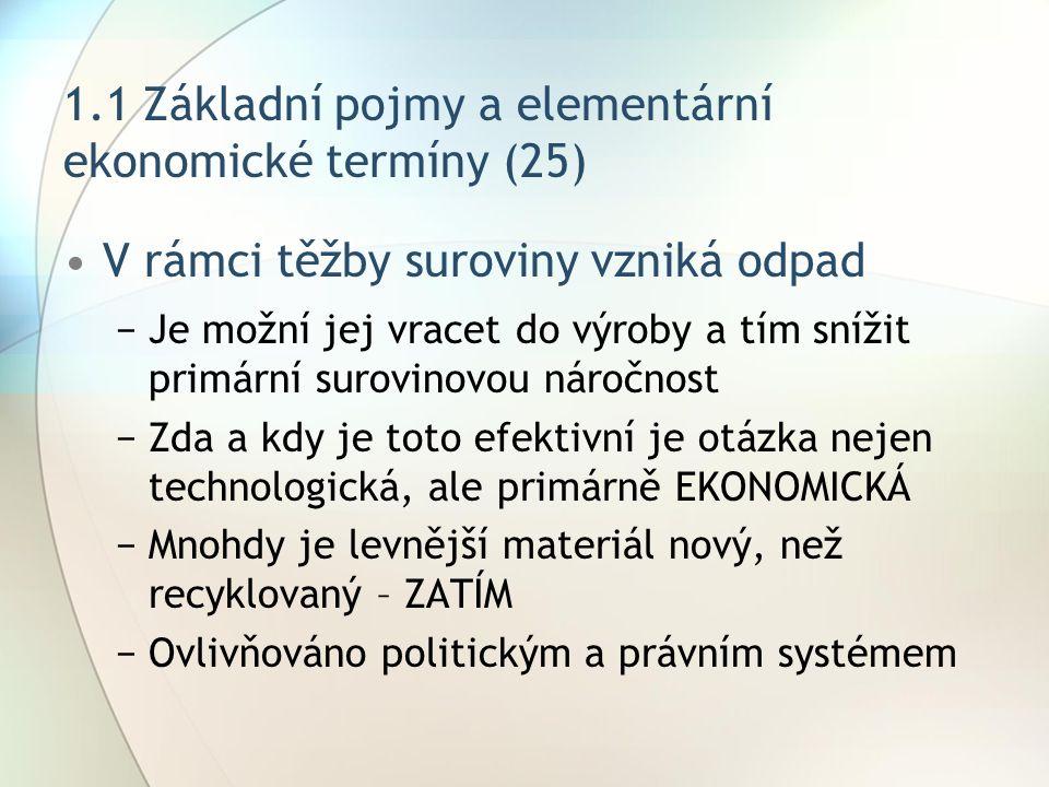 1.1 Základní pojmy a elementární ekonomické termíny (25)