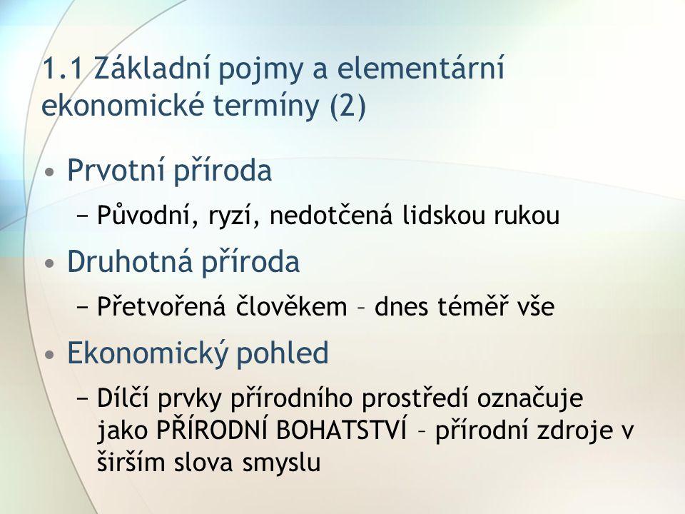 1.1 Základní pojmy a elementární ekonomické termíny (2)