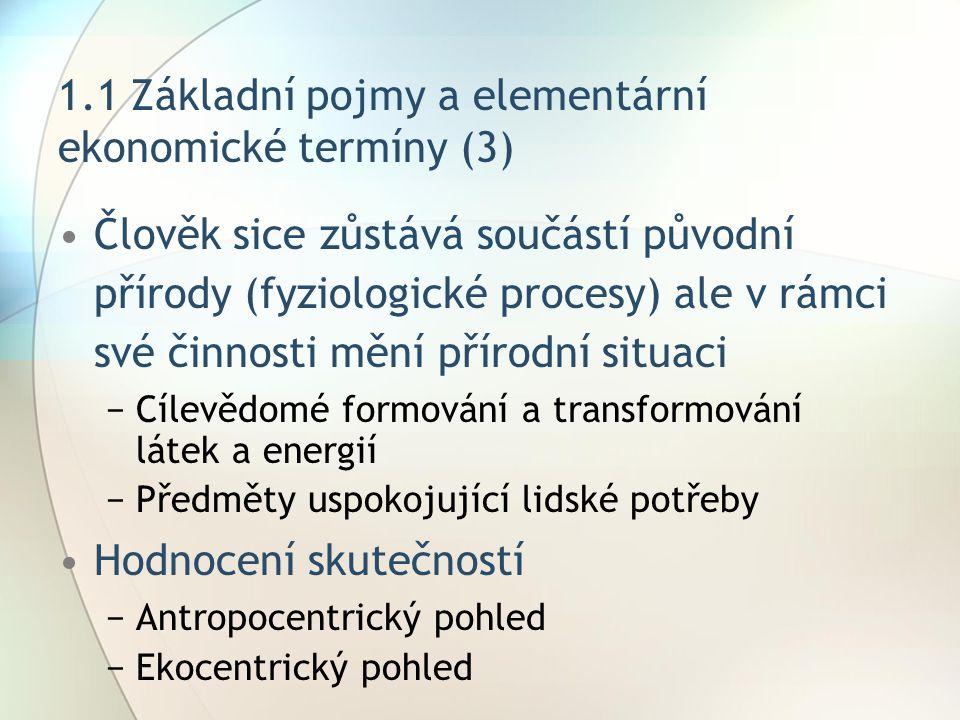 1.1 Základní pojmy a elementární ekonomické termíny (3)