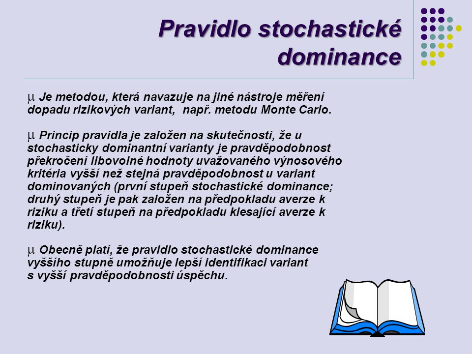 Pravidlo stochastické dominance