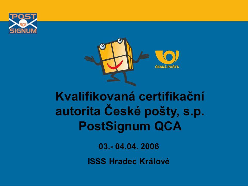 Kvalifikovaná certifikační autorita České pošty, s.p. PostSignum QCA