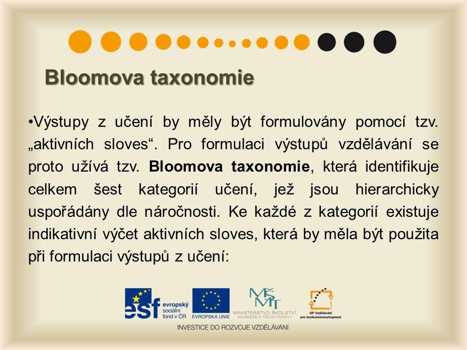 Bloomova taxonomie