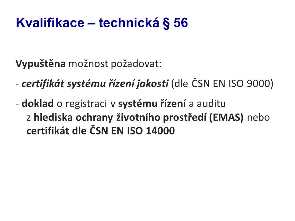 Kvalifikace – technická § 56