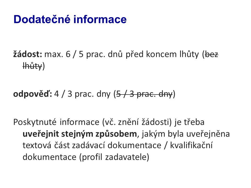 Dodatečné informace