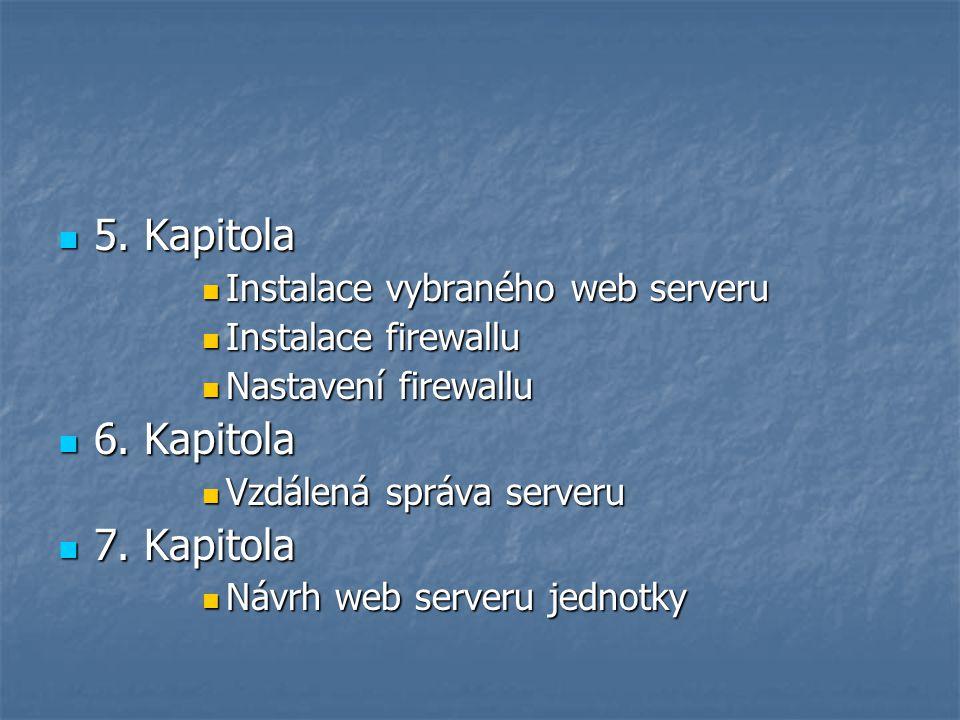 5. Kapitola 6. Kapitola 7. Kapitola Instalace vybraného web serveru