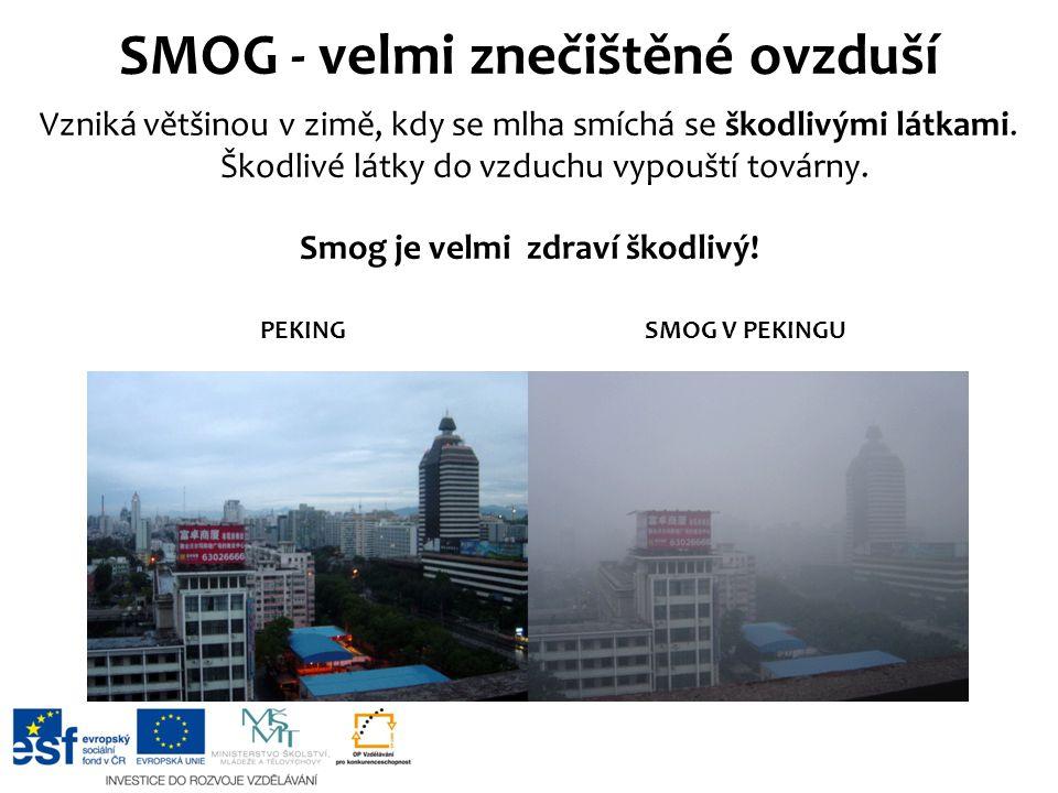 SMOG - velmi znečištěné ovzduší