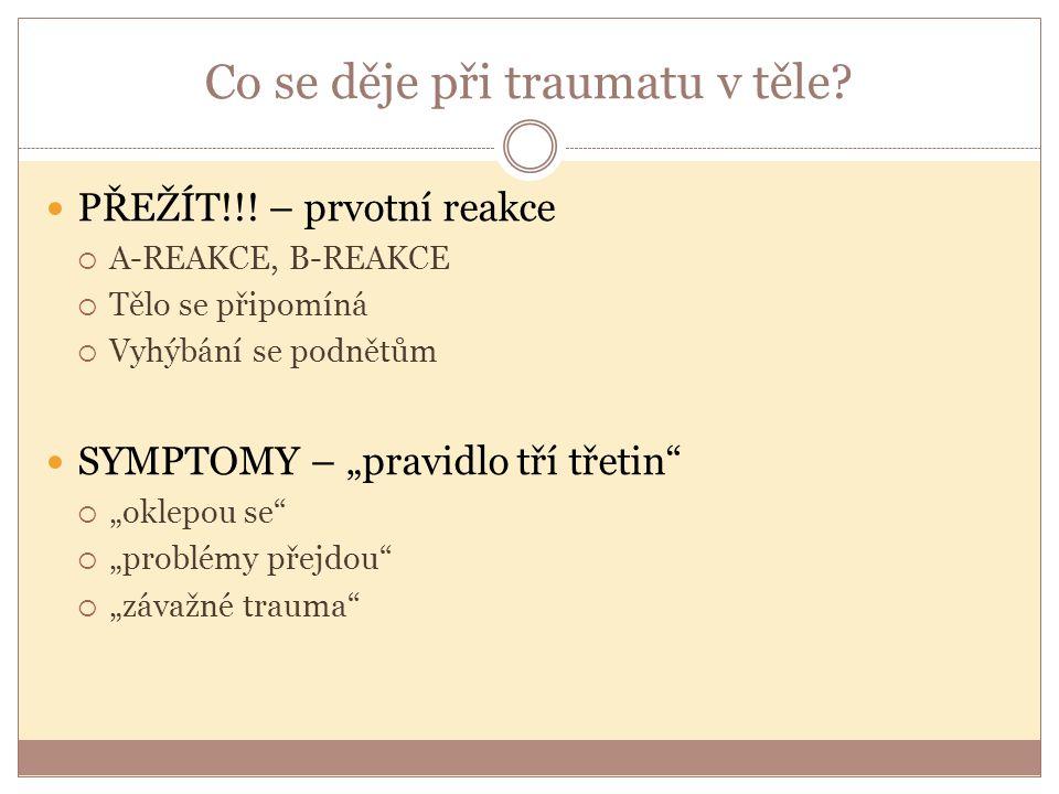 Co se děje při traumatu v těle