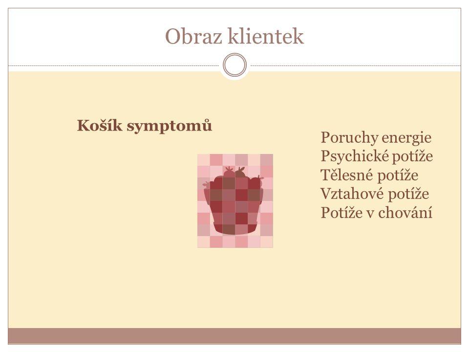 Obraz klientek Košík symptomů Poruchy energie Psychické potíže