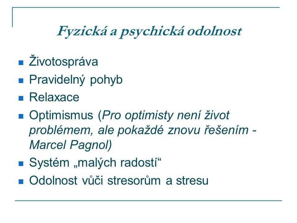 Fyzická a psychická odolnost