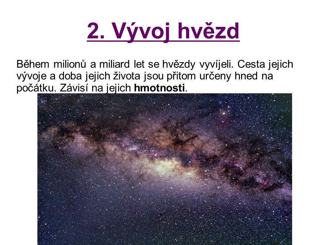 2. Vývoj hvězd