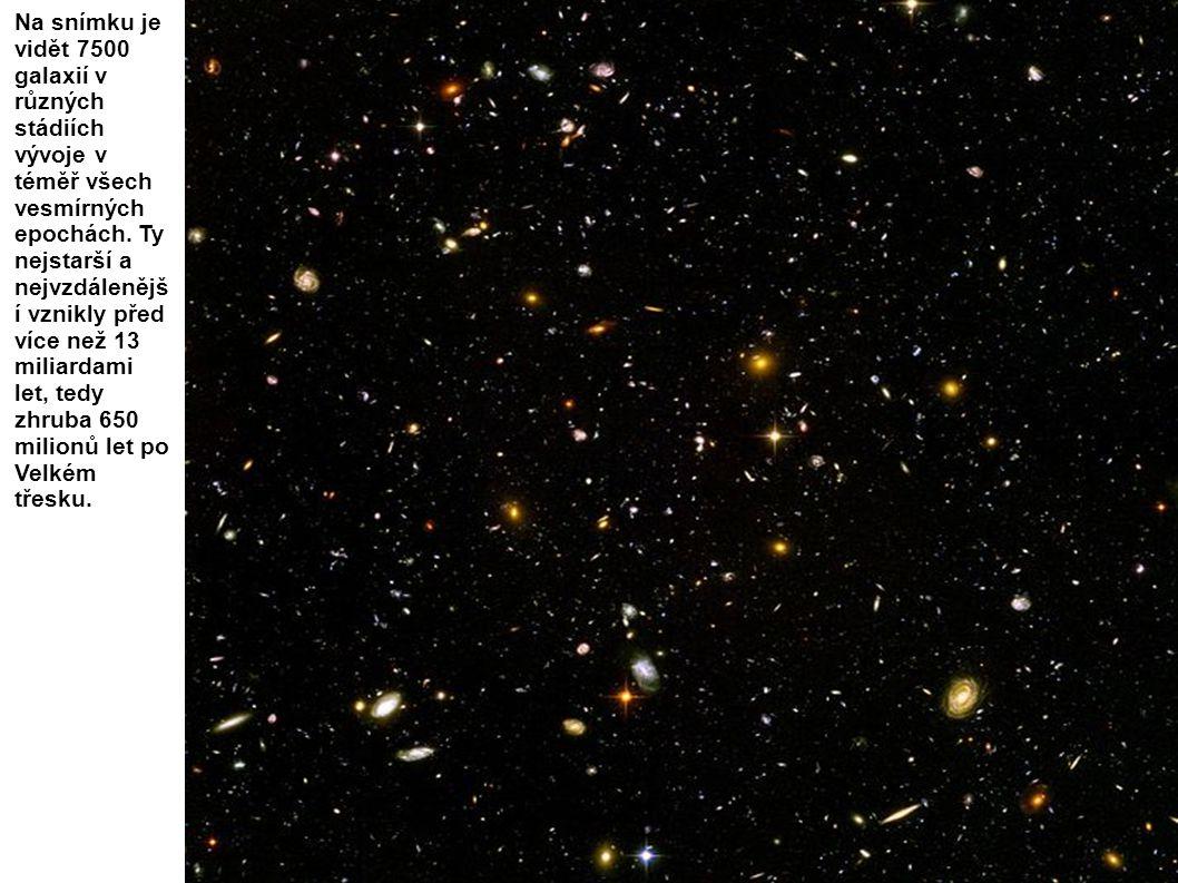 Na snímku je vidět 7500 galaxií v různých stádiích vývoje v téměř všech vesmírných epochách. Ty nejstarší a nejvzdálenější vznikly před více než 13 miliardami let, tedy zhruba 650 milionů let po Velkém třesku.