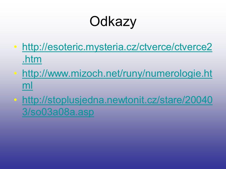 Odkazy http://esoteric.mysteria.cz/ctverce/ctverce2.htm