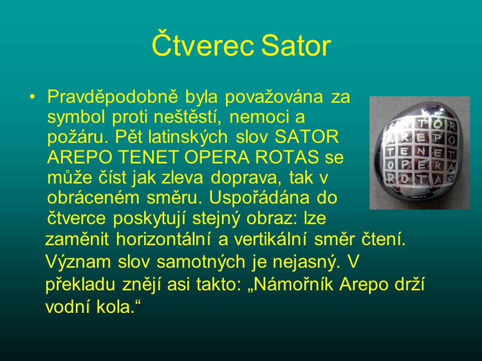 Čtverec Sator
