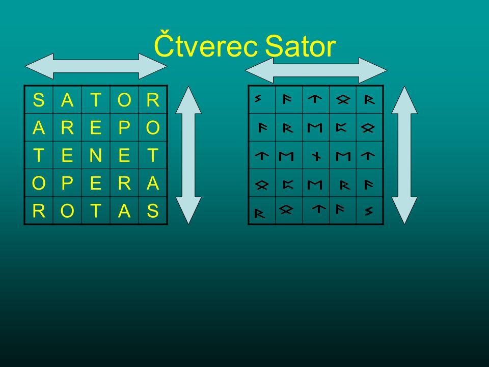 Čtverec Sator S A T O R E P N