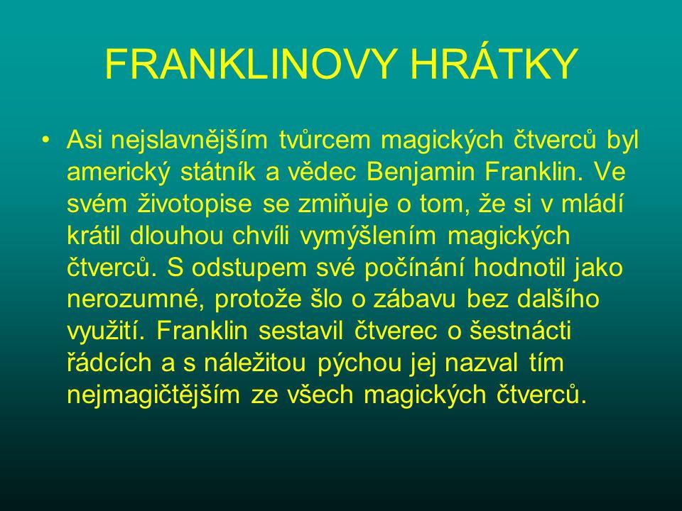 FRANKLINOVY HRÁTKY
