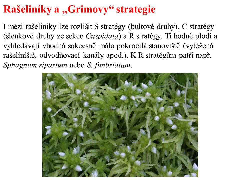 """Rašeliníky a """"Grimovy strategie"""