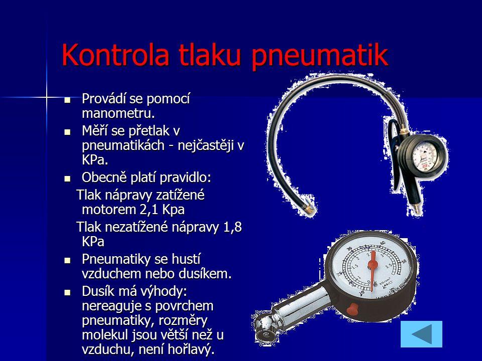 Kontrola tlaku pneumatik