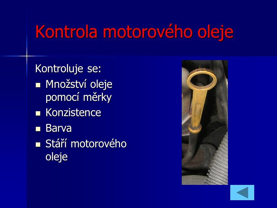 Kontrola motorového oleje