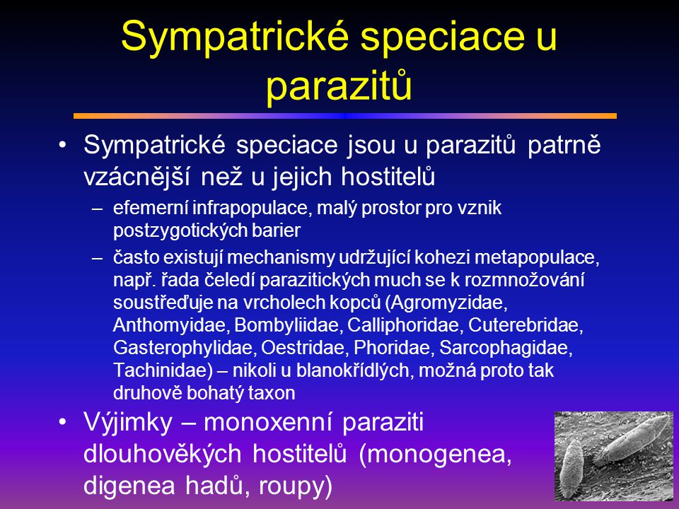Sympatrické speciace u parazitů