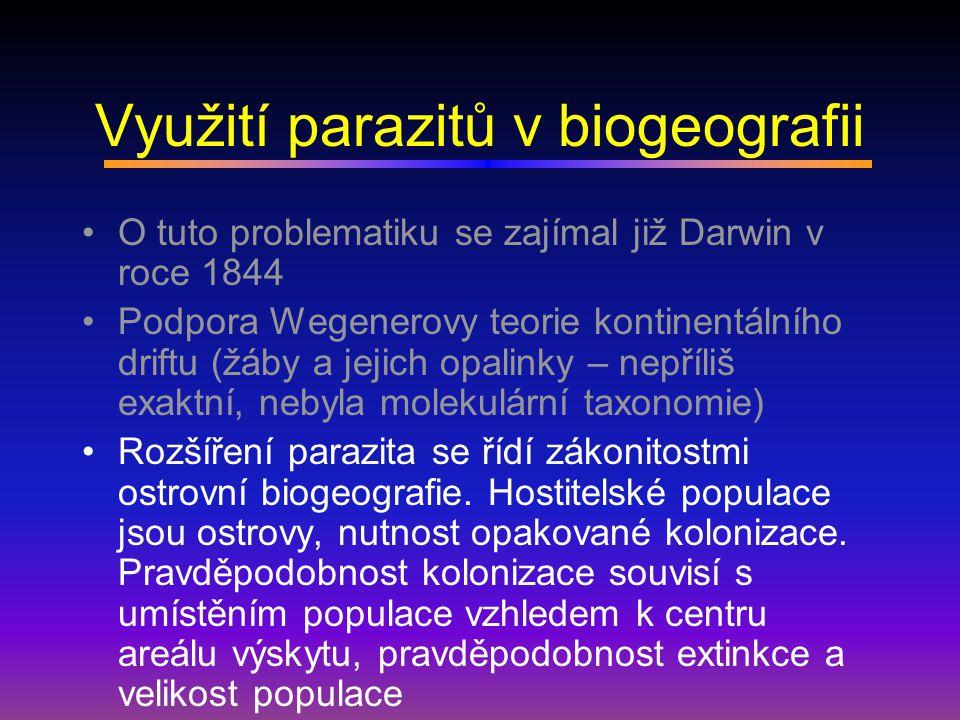 Využití parazitů v biogeografii