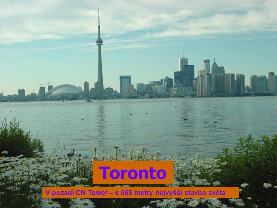 Toronto V pozadí CN Tower – s 553 metry nejvyšší stavba světa