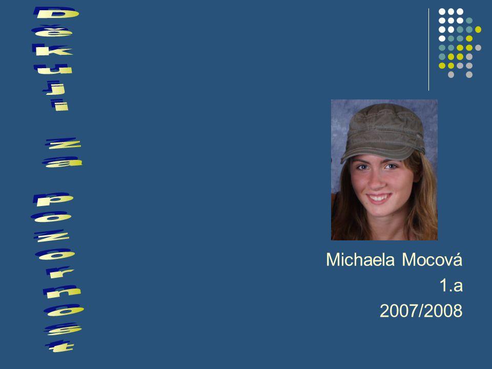 Michaela Mocová 1.a 2007/2008 Děkuji za pozornost