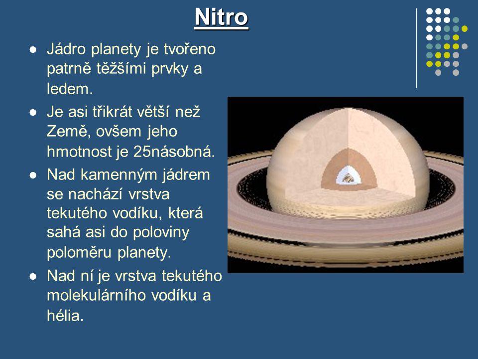 Nitro Jádro planety je tvořeno patrně těžšími prvky a ledem.
