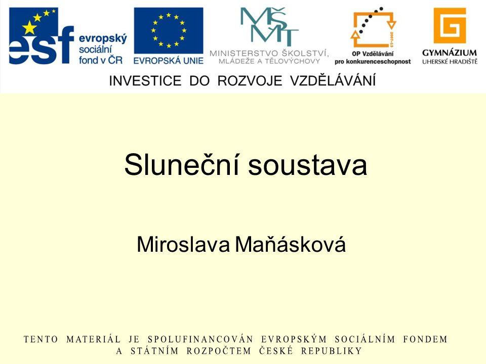 Sluneční soustava Miroslava Maňásková