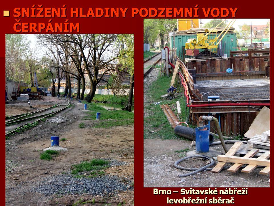 Brno – Svitavské nábřeží levobřežní sběrač
