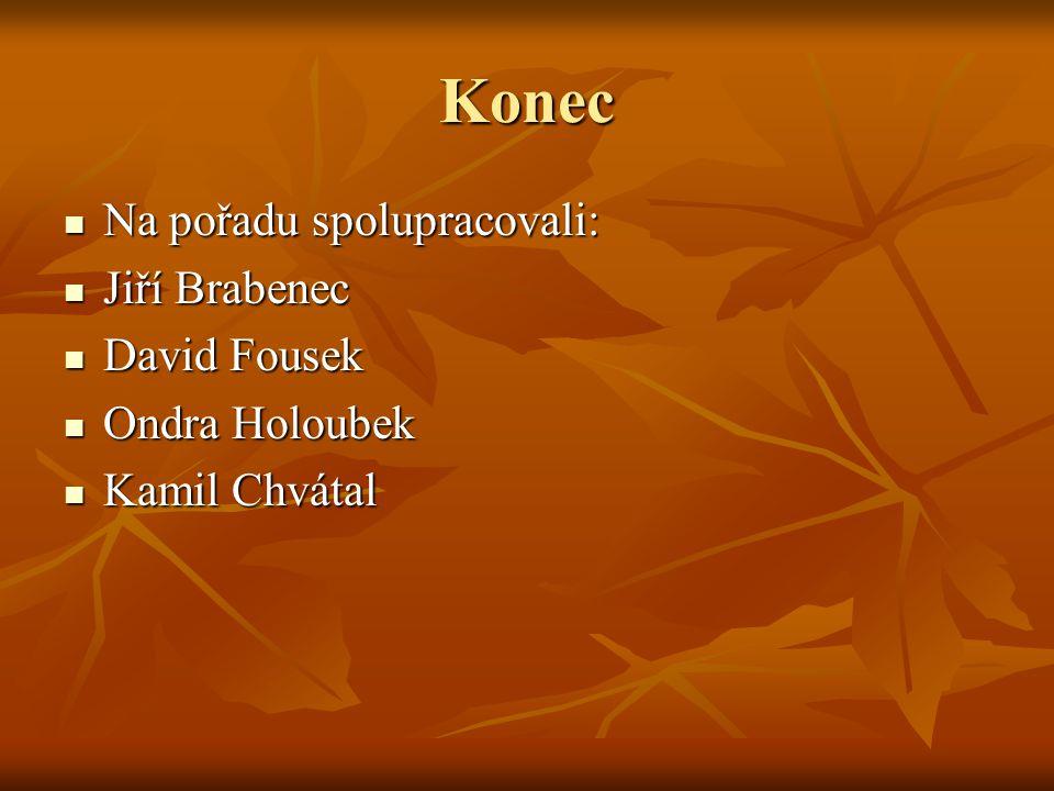 Konec Na pořadu spolupracovali: Jiří Brabenec David Fousek