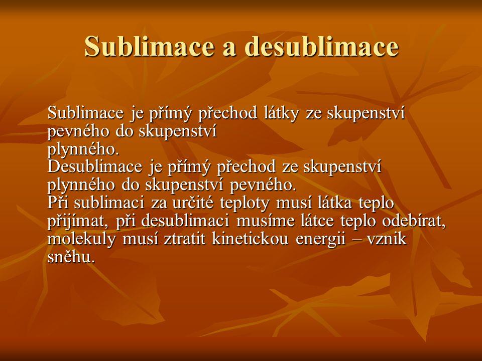 Sublimace a desublimace