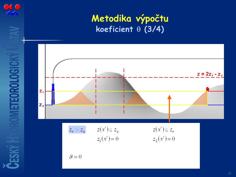 Metodika výpočtu koeficient  (3/4)