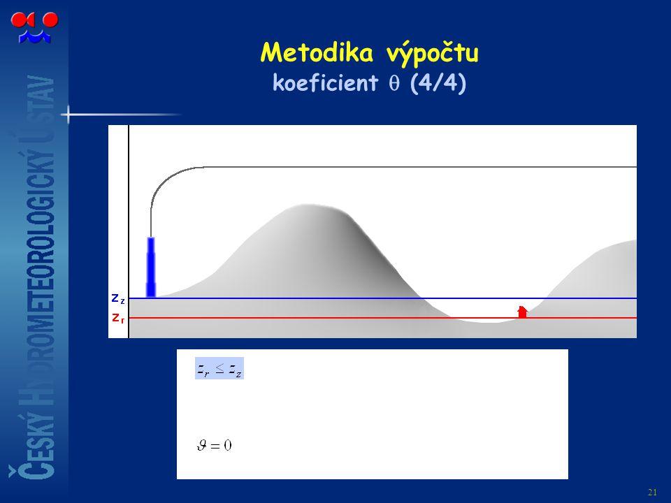 Metodika výpočtu koeficient  (4/4)