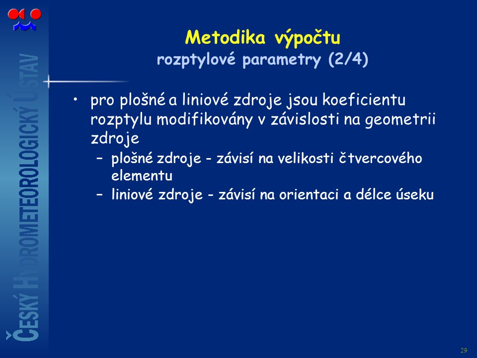 Metodika výpočtu rozptylové parametry (2/4)