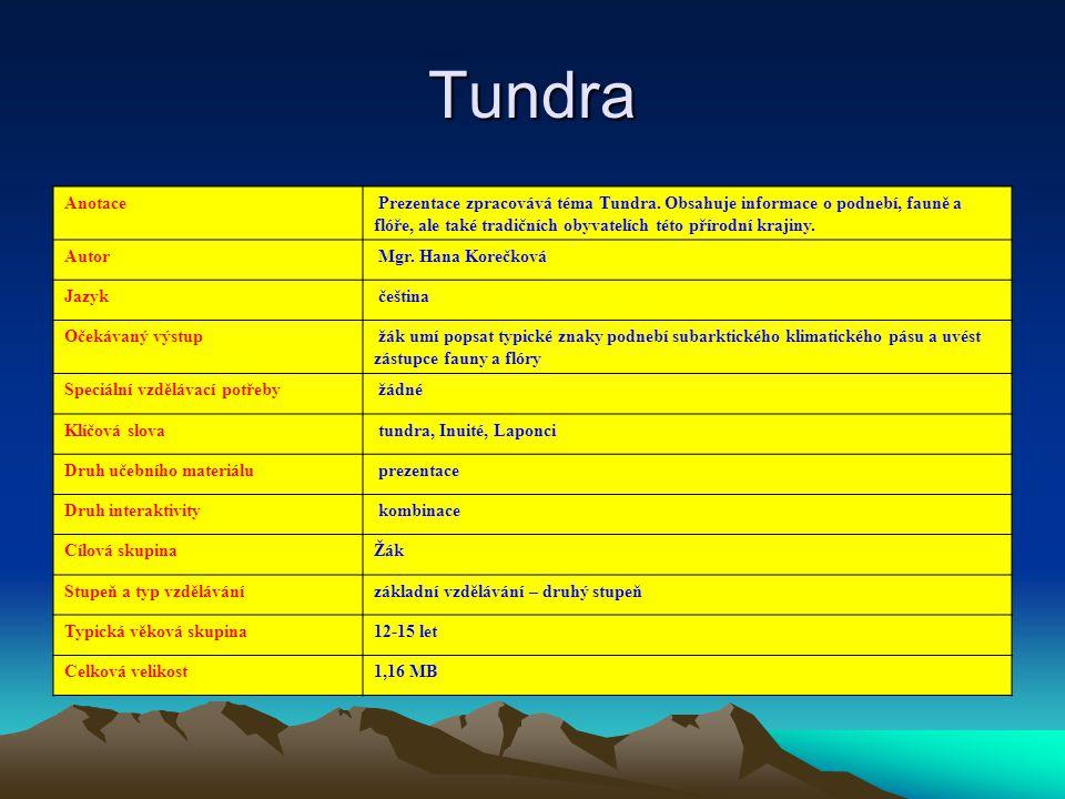 Tundra Anotace.