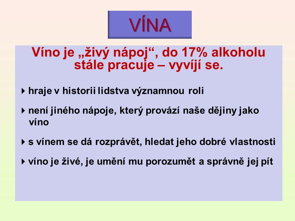 "Víno je ""živý nápoj , do 17% alkoholu stále pracuje – vyvíjí se."