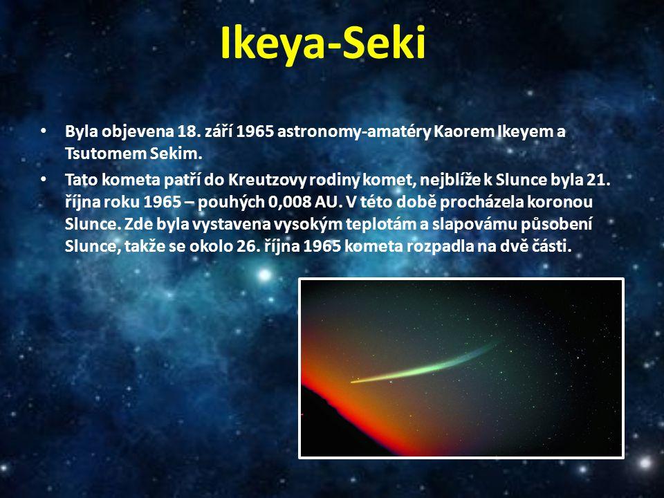 Ikeya-Seki Byla objevena 18. září 1965 astronomy-amatéry Kaorem Ikeyem a Tsutomem Sekim.