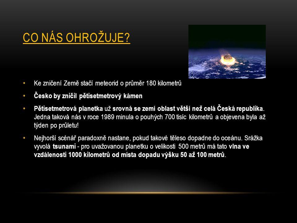 Co nás ohrožuje Ke zničení Země stačí meteorid o průměr 180 kilometrů