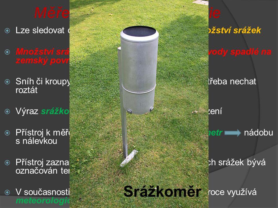 Měření srážek - Meteorolgie