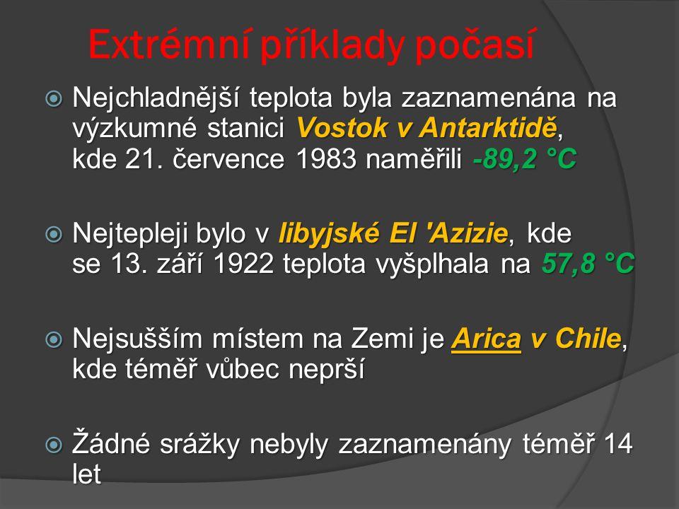 Extrémní příklady počasí