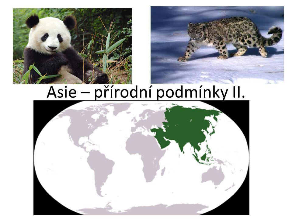 Asie – přírodní podmínky II.