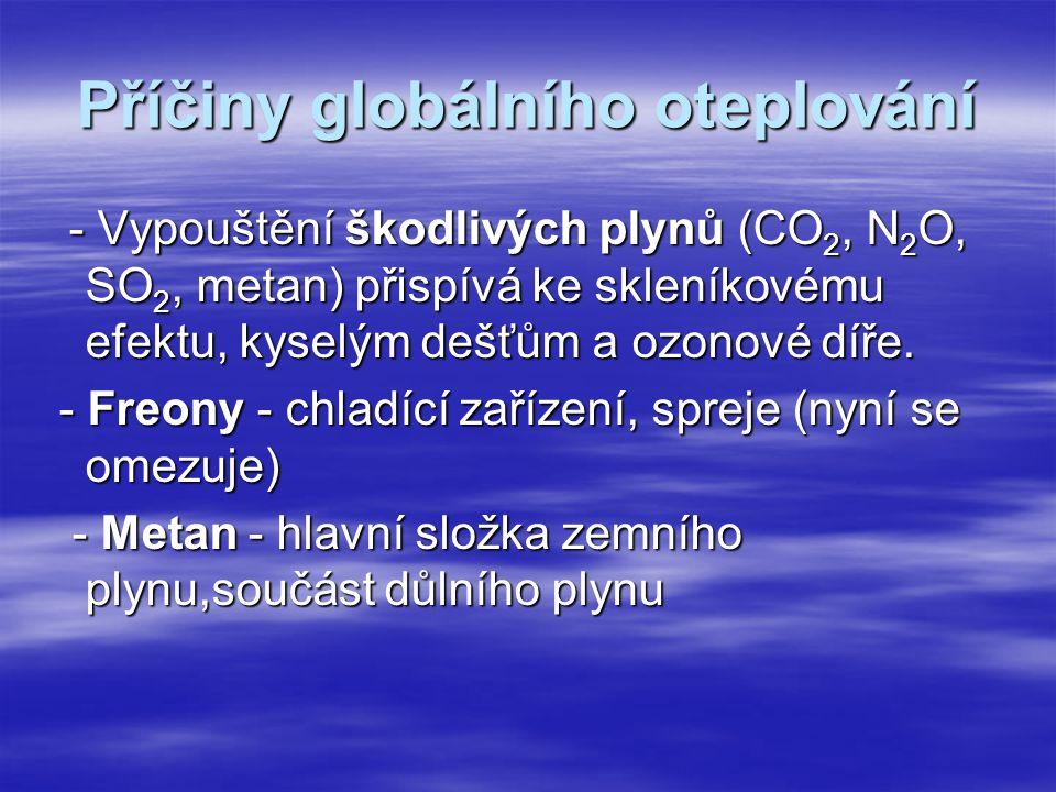 Příčiny globálního oteplování