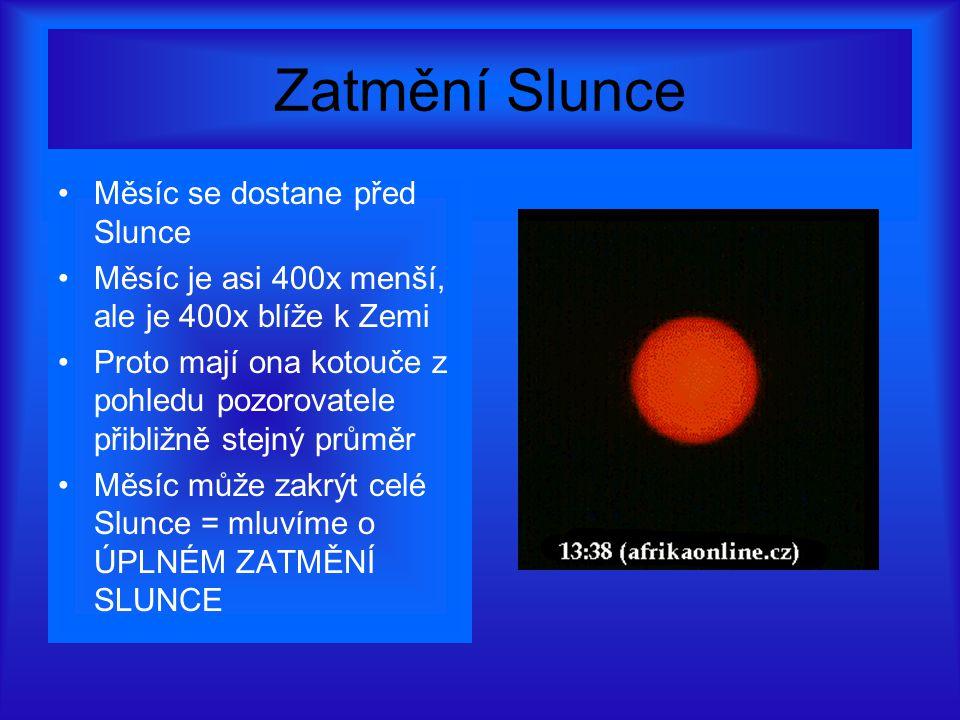 Zatmění Slunce Měsíc se dostane před Slunce