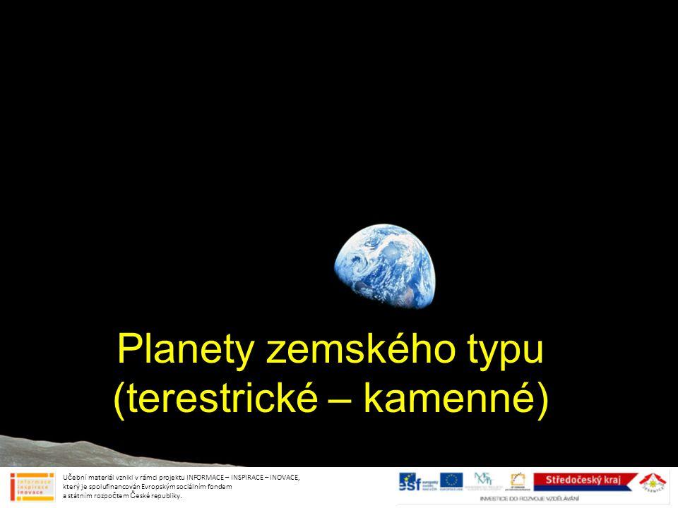 Planety zemského typu (terestrické – kamenné)