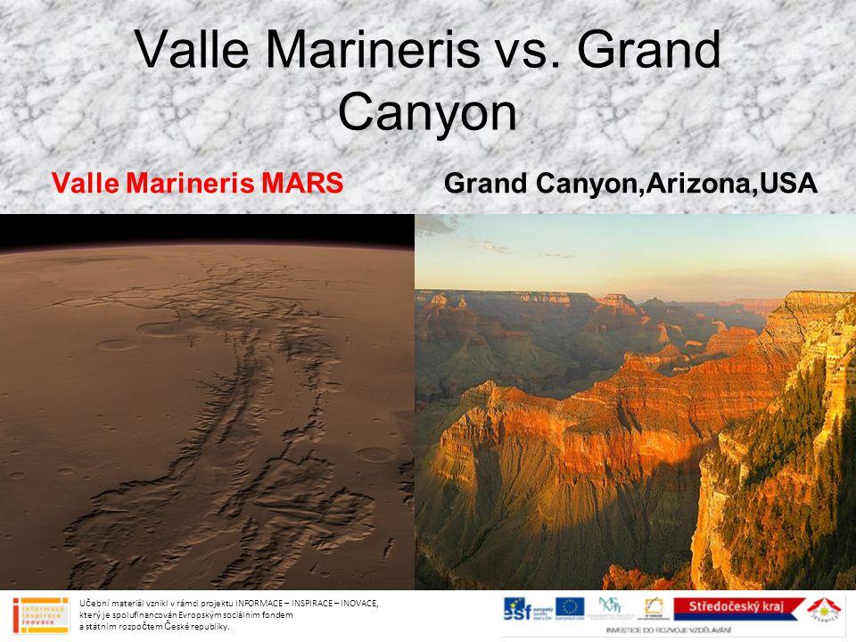 Valle Marineris vs. Grand Canyon